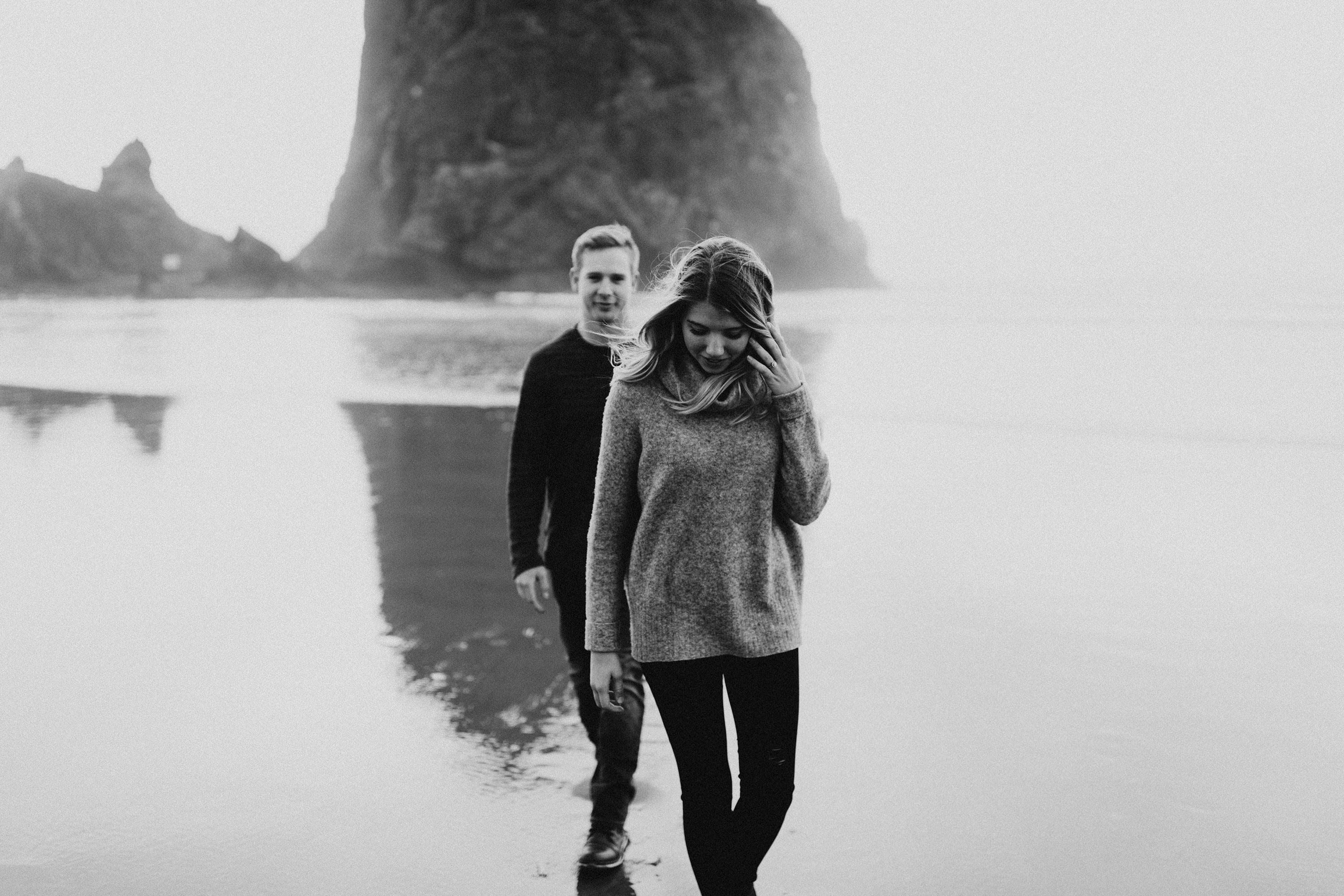 Canon, Beach, Oregon, Engagement Session, Josh Rexford